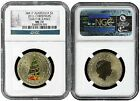 2011 P Australia $1 Bronze Christmas Coin NGC MS70 Early Releases