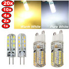 G4 G9 24/64 LED 3014-SMD Cool/Warm White Spot Light Bulb Lamp 12V/110V/220V New