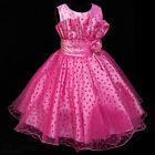 HP8811 Pinks Christmas Pageant Flower Girls Party Dresses SIZE 2-3-4-5-6-7-8-10T