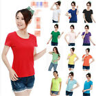 Lycra Cotton Short sleeve Women Plus Size Summer Basic Tops blouses Tee T-shirt