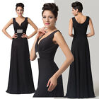 GK Women Sexy V-Neck Ball Gown Evening Prom Party Cocktail Dress Size 6~20 Stock