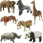 3D WILD ANIMAL PUZZLE KIDS FUN TOY KIT GIFT JIGSAW MODEL WITH WIND UP MOTOR NEW