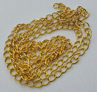 Gold Plated Iron Side Twist Chain Lead Free 7mm Long 5mm Wide *Choose Length*