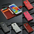 Genuine Leather Wallet Flip Cover Stand Case For Samsung Galaxy S5 mini Usefully