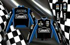 2013 Jimmie Johnson Lowes Logo NASCAR Jacket Coat Black Blue Adult Mens Size 3XL