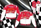2013 Kevin Harvick Red White BUDWEISER NASCAR Jacket Coat Adult Mens Size NEW