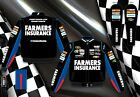 2013 Kasey Kahne Farmers Insurance Black Blue NASCAR Jacket Coat Adult Mens JH