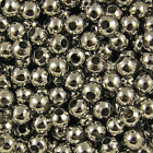 Bronze Gold &amp; SILVER PLATED Metal Round SPACER BEADS 2.4mm 3.2mm 4mm 5mm 6mm 8mm <br/> CHOOSE FROM 4 COLOURS &amp; 6 SIZES✔ ONLY 99p PER BAG✔