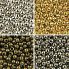 100 to 1000 Bronze Gold & Silver Plated Metal Round Spacer Beads 2mm to 8mm