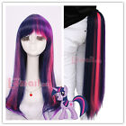 USA Seller My Little Pony Mixed purple/pink Dash Cosplay Wig Claw On Tail Set