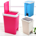 Hand Push and Pedal Foot-operated Silent Descent Plastic Waste Trash Bin K1946