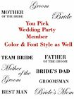 Bride/Bridal Party (Pick Your)  Wedding Party Members Baseball Cap/Hat