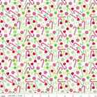 HOME FOR THE HOLIDAYS - CANDY CANE  WHITE - RILEY BLAKE COTTON CHRISTMAS FABRIC