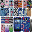 For Kyocera Hydro XTRM C6721 DIAMOND BLING CRYSTAL HARD Case Phone Cover + Pen