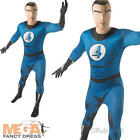Fantastic 4 Adults Fancy Dress Superhero Mens Halloween Marvel Comic Costume New