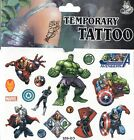 MARVEL HEROES Temporary Tattoos Brand New and Fully Sealed