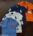 NWT Ralph Lauren Boys S/S Big Pony Solid Mesh Polo Shirts Sz 5 6 or 7 NEW $40 4d