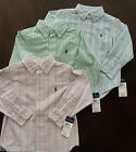 NWT Ralph Lauren Boys L/S Striped Oxford Blake Dress Shirt Sz 5 or 6 NEW 4g $40