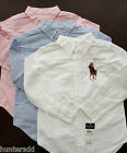 NWT Ralph Lauren Boys Long Sleeved Big Pony Oxford Shirt 2t 3t or 4t NEW $45 3g