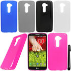 For LG G2 VS980 Verizon TPU SILICONE Rubber Case Phone Cover Accessory + Pen