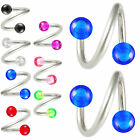 2P Steel twist barbell rings eyebrow bars tragus piercing 9EDB-SELECT COLOR&SIZE