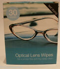 PACK OF 30 OPTICAL LENS WIPES - SMEAR FREE - ANTI-FOG - FREE POST AND PACKING