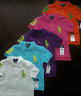 NWT Ralph Lauren Boys S/S Big Pony Solid Mesh Polo Shirts Sz 5 6 7 NEW $40 4e