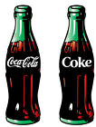 "6-10"" COKE COCA-COLA SODA POP BOTTLE LOGO WALL SAFE STICKER BORDER CUT OUT"