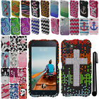 For HTC First PM33100 DIAMOND BLING CRYSTAL HARD Case Phone Cover + Pen