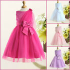 NWT Hot Pinks Communion Christmas Wedding Flower Girls Dresses SIZE AGE 2 to 10Y