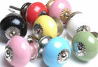 Fab Set of Plain Coloured Ceramic Cupboard Knobs Kitchen Door Knobs Drawers Pull