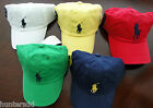 NWT Ralph Lauren Polo Boys Classic Chino Big Pony Cap Hat Sz 4/4t 5 6 7 NEW 3g
