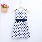 Fashion Baby Girls Toddler Kids Sleeveless Party Dresses skirts White black dot