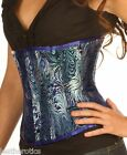 Underbust silk corset steel boned top waspie 1811BLUE