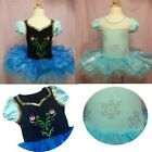 New Girls Frozen Elsa Anna Ballet Tutu Dancewear Dress 2-8Y Kids Dancing Costume