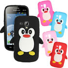 3D Penguin TPU Gel Silicone Case Cover For Samsung Galaxy S Duos S7562/Ace S7560