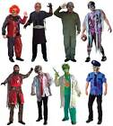 ADULT MENS SCARY ZOMBIE COSTUME HORROR FANCY DRESS OUTFIT NEW