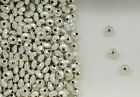 925 Sterling Silver Beads, 4mm Corrugated Rondelle Design, New