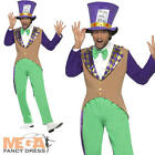 Mad Hatter Men's Fancy Dress Alice In Wonderland Fairytale Adult Costume Outfit