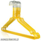 Hangerworld™ 40cm Coloured Wire Metal Coat Clothes Hangers Garment Trouser Bar <br/> Various Pack Sizes, Galvanised Steel, Quality Guarantee