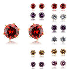 10 Colors Hearts and Arrows Zircon Crystal 8mm Chrismas Gift Earring Studs 13j0