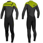 2014/15 O'Neill Superfreak 5/4mm Mens Wetsuit Black Graphite Lime, Surf