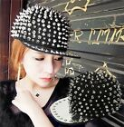 Hip hop street dancing Unisex Men Women Spike Rivet Full Visor Outdoor Hat Cap