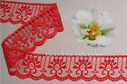 "12/24 Yd Red Lace Trim 1-1/4"" Candlewick Scalloped R128V Buy More-Ship No Charge"
