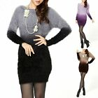 Soft Stretchy Gradient Long Sleeves Blouse Sweater Top