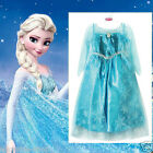 Princess Anna Queen Elsa Halloween School Costume Party Dresses SIZE 3 4 5 6 7 8