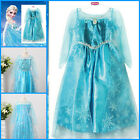 Disney Frozen Princess Elsa Anna Queen Costume Christmas Party Dresses SIZE 3-8Y