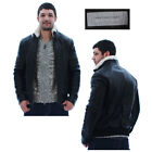 Andrew Marc Norton Men's Leather Jacket Coat Shearling Collar Black