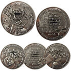 LUCKY COIN ENGRAVED GIFT LUCK COINS SENTIMENTAL NEW MESSAGE KEEPSAKE QUOTES GOOD