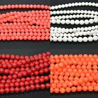 """Wholesale 2,3,4,5,6,7,8mm Natural Coral Gemstone Loose Round Spacer Beads 16"""""""